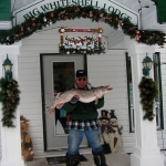 A Great Ice Fishing Catch at Big Whiteshell Lodge