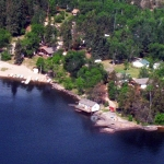 Aerial of Big Whiteshell Lodge