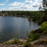 Big Whiteshell Lodge Bay from Tranquility Point