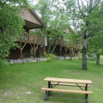 Big Whiteshell Lodge Front Yard of Cottages