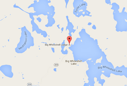 Big Whiteshell Lodge Google Map
