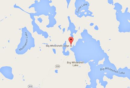 Big Whiteshell Lodge Google Map
