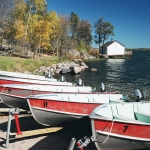Boats at Big Whiteshell Lodge