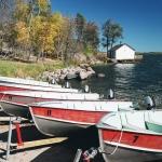 Boats at Big Whiteshell Lodge