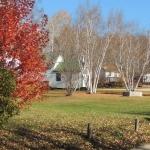 Fall Coutyard at Big Whiteshell Lodge